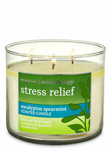☆STRESS RELIEF☆BATH & BODY WORKS 3 WICK CANDLE 14.5 OZ☆FREE SHIPPING