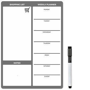 Magnético Planificador Semanal, Borrado en Seco Nevera Pizarra O Calendario De