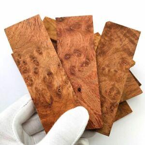 2pcs Burmese Pear Wood Knife Handle Material Blanks Scales Block 120x40x8mm