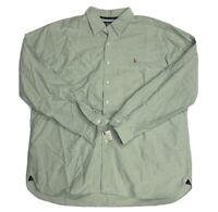 NWOT Polo Ralph Lauren Men's Classic Fit Oxford Cotton L/S Green Shirt Size XXL