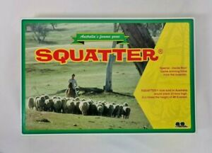 New in Open Box - Squatter Board Game Tree Toys Edition Australia's Famous Game