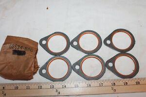 6 Fire Ring Exhaust Gaskets Harley-Davidson Shovelhead 1966-1984 FREE SHIPPING