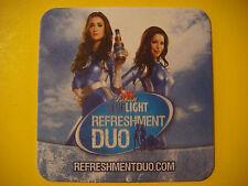 Beer Coaster Mat  ~*~ LABATT Blue Light Refreshment Duo ~ Imported Canadian Pils