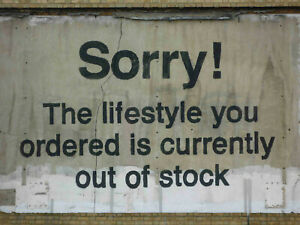 "Banksy graffiti art, Sorry, The Lifestyle..., Giclee Canvas Print, 8""x10"""