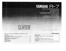 Yamaha R-7 Receiver Owners Manual