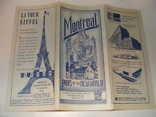 Montreal Canada Paris of the New World vintage tourist city map, ads Oligny Publ