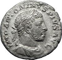ELAGABALUS  sacrificing over altar 221AD Rome Ancient Silver Roman Coin i70381