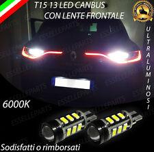 LAMPADE RETROMARCIA 13 LED T15 W16W CANBUS PER RENAULT MEGANE IV 6000K NO ERROR
