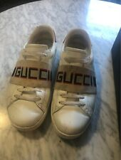 gucci ace stripe sneakers- size 43 (US10)