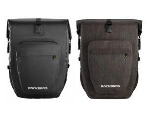 ROCKBROS Premium Quality 18-24L 100% Waterproof Bike Pannier Bag Roll-Top Large