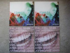 Alanis Morissette 4 album cover slicks Jagged Little Former Infatuation Junkie