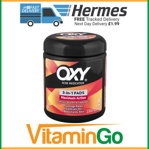 OXY Maximum Action 3 in 1 Acne Medication Treatment Pads 90, Acne Treatment