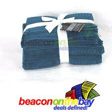 7 Piece Marine Blue 100% Indian Cotton Large Bath Towel Gift Set Indus Sands