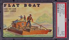 "1955 Topps Rails and Sails 144 ""Flat Boat"".  PSA 9 MINT.  (TX52119)."