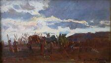 Claude Firmin paysage daté 1917 huile sur panneau Groupe des Treize Avignon