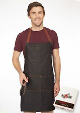 No1Cook Chef Apron by Durable cotton denim apron with pockets for men and women.