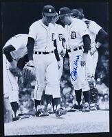 Ralph Houk Detroit Tigers Baseball Autographed Signed 8x10 B&W Photo