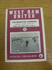 20/08/1962 West Ham United v Wolverhampton Wanderers  (Faint Fold, Number Noted