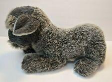 "Avanti Applause 1986 Puppy Dog Gray Terrier Plush Stuffed Animal 14"" Long"