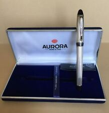 Aurora Fountain Pen  -  Penna Stilografica Aurora  -  B14 Ipsilon Silver 925