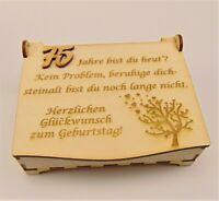 Geschenk zum Geburtstag aus Holz, Personalisiert, Schatzkiste Geldgeschenk