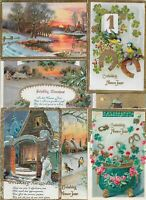 Happy New Year Vintage Postcard Lot of 50   01.17
