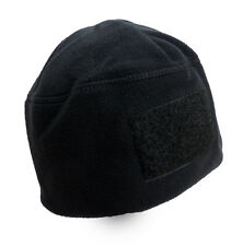 Rothco Men's Polar Fleece Tactical Watch Cap Hat Beanie With Velcro Patch Black