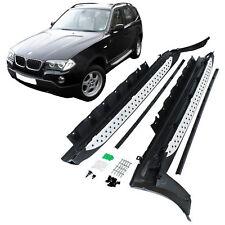 Trittbretter Schweller Seitenbretter Aluminium Set Satz für BMW X3 E83 Bj 04-10