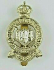 Northumberland Hussars Yeomanry White Metal Cap Badge -JR Gaunt London - slider