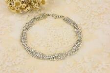 Spiral Rhinestone Applique Chain Crystal Trim Diamante Motif Bridal Accessories