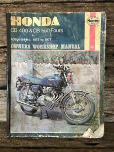 Honda Work Shop Repair Manual - CB 400 - CB 500 Fours 73 to 77 - By Haynes