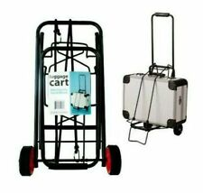 Kole Imports Folding Travel Luggage Cart - Black