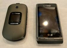 Lot of 2 vintage cell phones Samsung Gusto 2 flip & LG Dare untested