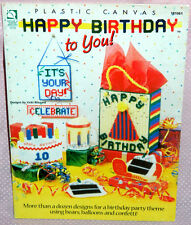 House of White Birches Happy Birthday to You Plastic Canvas Leaflet Garland Tote