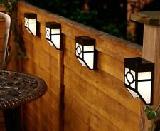 Outdoor LED Solar Powerful Light Wall Mount Garden Path Fence Courtyard Lamp