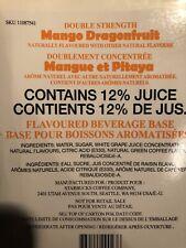 Two Sealed Starbucks Mango Dragonfruit Refresher Juice Base 10/20