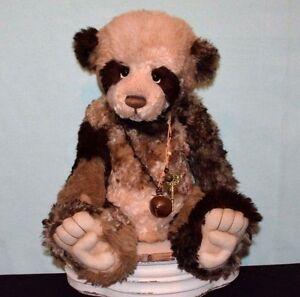 "Charlie Bear Mohair Panda Isabelle Masterpiece 2011 22"" Stunning Example"