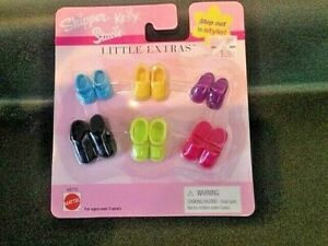 Shoes for Barbie Sisters Skipper Kelly Stacie Little Extras-Mattel 2001- NEW