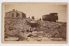 1880's-'90's PIKE'S PEAK RAILROAD (VS MULE), HOOK CABINET PHOTO COLORADO