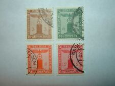 1938 GERMANY PARTY OFFICIAL STAMPS x 4 VFU (sgO649/54) CV £9
