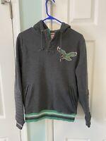 Philadelphia Eagles Mitchell Ness Men's Small Hoodie Throwback Sweatshirt Gray