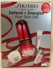 SHISEIDO DEFEND + ENERGIZE YOUR SKIN SET  NEW