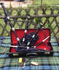 Great Highland Bagpipes Silver Amounts/Scottish Bagpipe with Hard Case/chanter