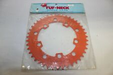 NOS TUF-NECK 43T CHAINWHEEL CHAIN RING ORANGE BMX VINTAGE OLD SCHOOL