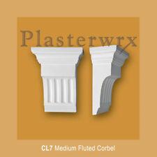 Medio llano Estriado Yeso Corbel (CL7) plasterwrx Ménsulas
