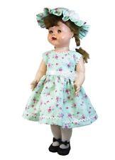 Sweet Dress and Bonnet for 22 inch Saucy Walker Dolls in Mint