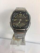 Casio Men's  GERY Dial Analog -Digital  Stainless Steel Bracelet Watch AW81D-2AV