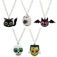 Bluebubble TRICK OR TREAT Necklace Halloween Wicked Scary Emo Funky Fancy Dress