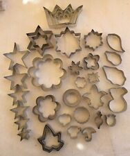 Metal Clay Cutters Miscellaneous Shapes Sizes 39 pieces