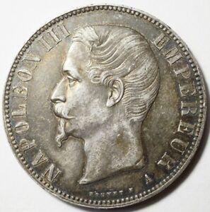 NAPOLEON III : SUPERBE 5 FRANCS TETE NUE 1856A PARIS